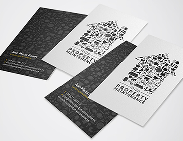 ibiza property maintenance business cards
