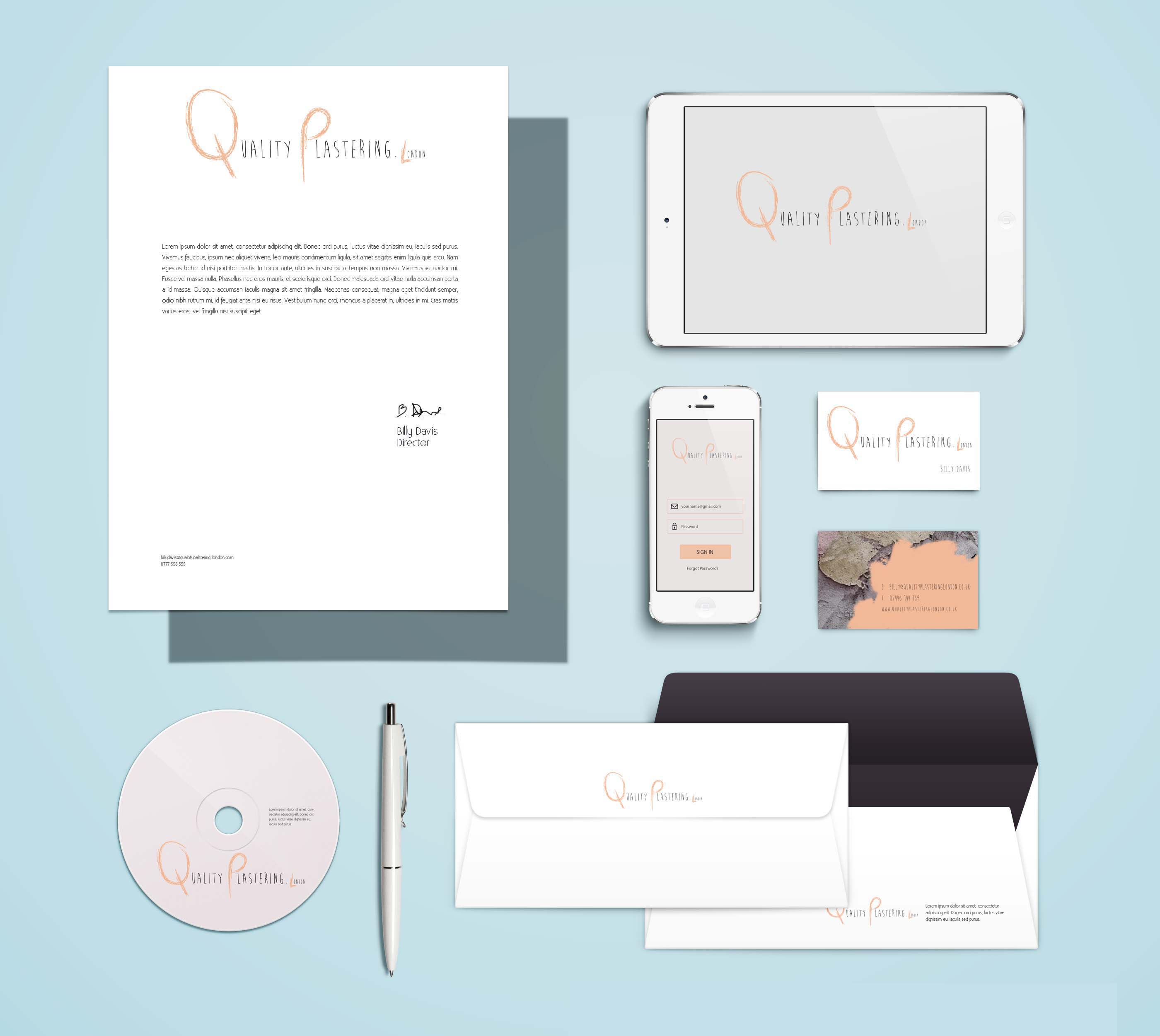 qpl mock up brand identity copy